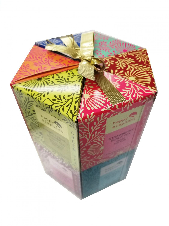 Specialty Tea Selection Happy Elephant Gift Box 96 tea bags - 12 flavors Valentines Gift Idea