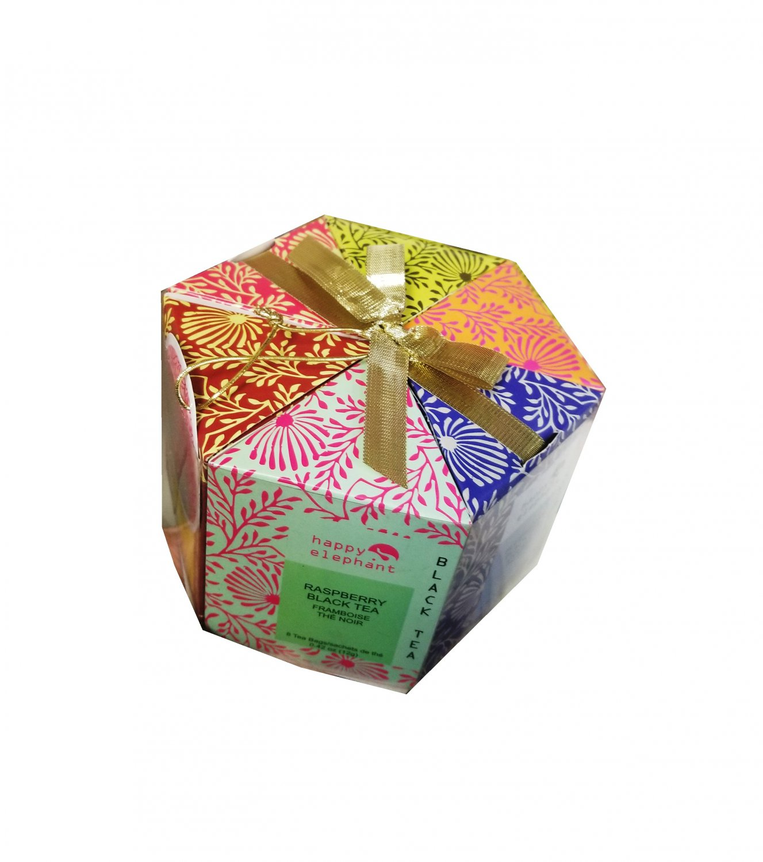 Specialty Tea Selection Happy Elephant Gift Box 48 tea bags - 6 flavors New Gift Idea