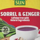 Tropical Sun Sorrel and Ginger Tea with natural ingredients