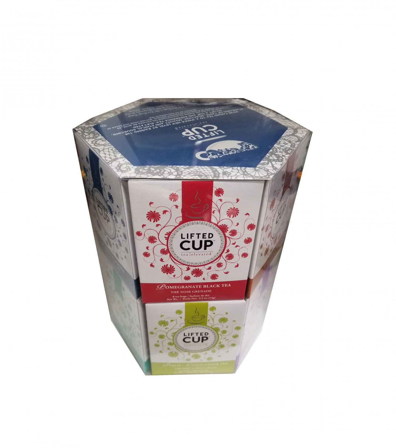 Specialty Tea Selection Lifted Cup Gift Box 96 tea bags - 12 flavors New Gift Idea