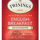 Twinings English Breakfast Decaf 20 Teabags + Black Tea Decaffeinated