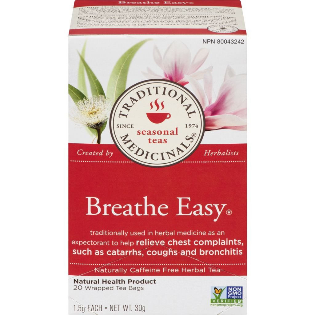Traditional Medicinals, Organic Breath Easy 20 Wrapped Tea Bags Compostable (30g)