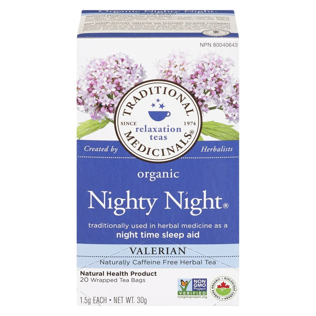 Traditional Medicinals, Organic Nighty Night Tea 20 Wrapped Tea Bags Compostable (30g)