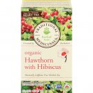 Traditional Medicinals, Organic Hawthorn with Hibiscus 20 Wrapped Tea Bags Compostable (35g)