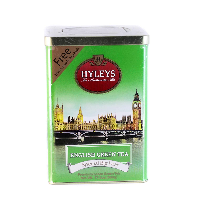 Hyleys English Green Tea Tin 500g