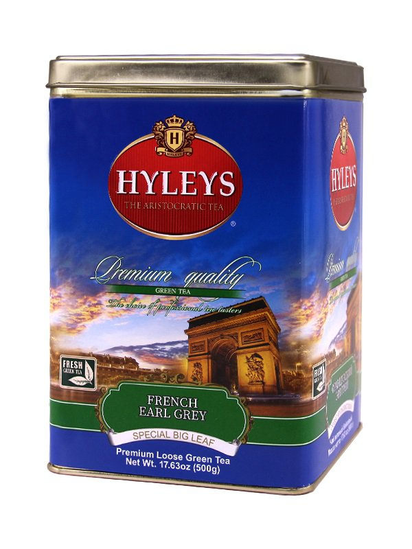 Hyleys French Earl Grey Tea Tin 500g