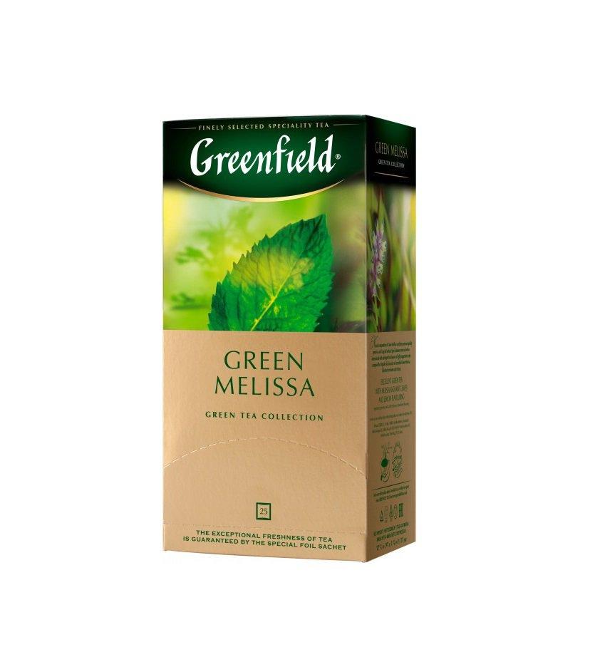 Greenfield Green Melissa 25 tea bags Russian Tea