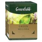 Greenfield Green Melissa 100 tea bags Russian Tea