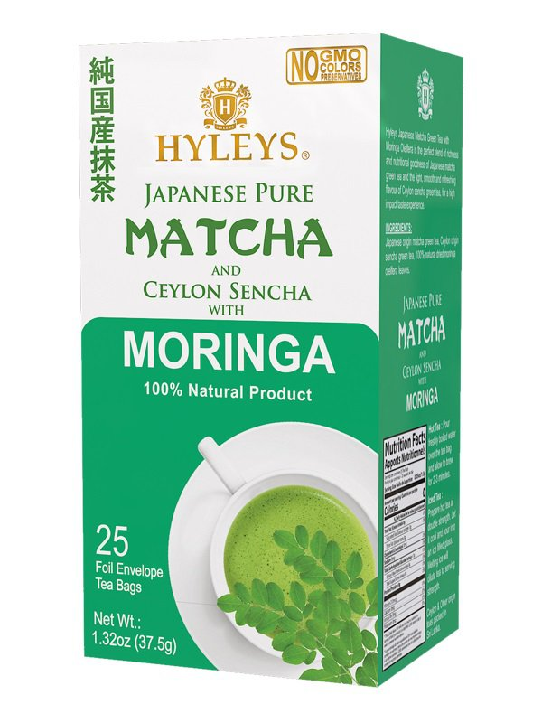 Hyleys Japanese Pure Matcha and Ceylon Sencha with Moringa 100% Natural