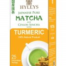 Hyleys Japanese Pure Matcha and Ceylon Sencha with Turmeric 100% Natural LIMITED STOCK