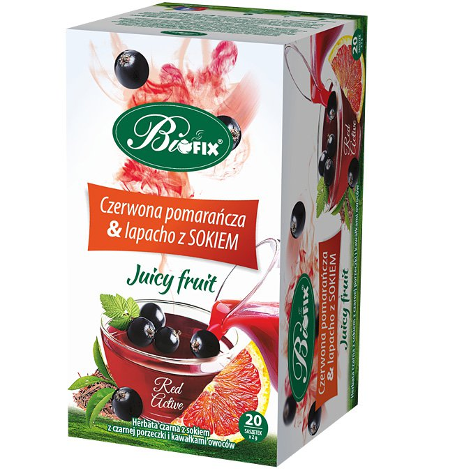 BIFIX Bi Fix Herbal Tea Red Orange and Lapacho BIOFIX Juicy Fruit