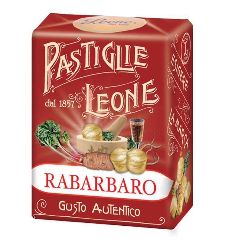 Pastiglie Leone Rabarbaro Pastilles Leone Rhubarb Candy Original 30 gr