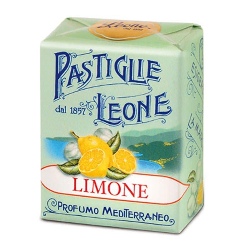 Pastiglie Leone Limone Pastilles Leone Candy Lemon 30 gr Profumo Mediterraneo Torino 1857