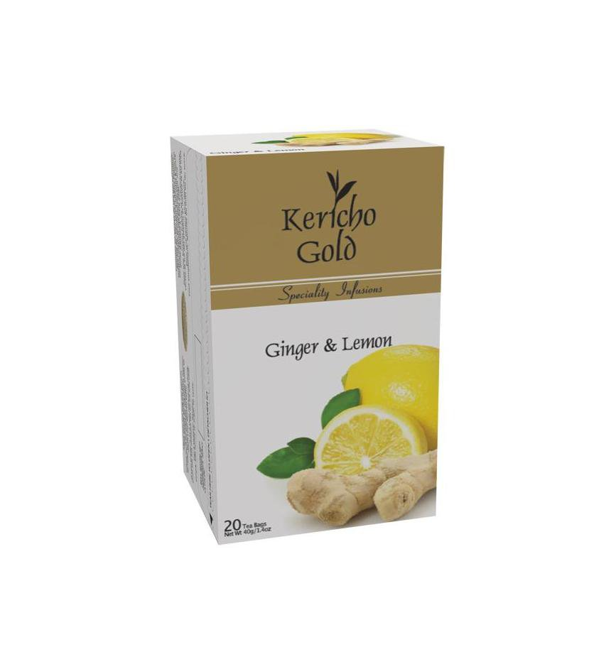 Discover Kericho Gold, Ginger & Lemon, Herbal Tea, 20 tea bags