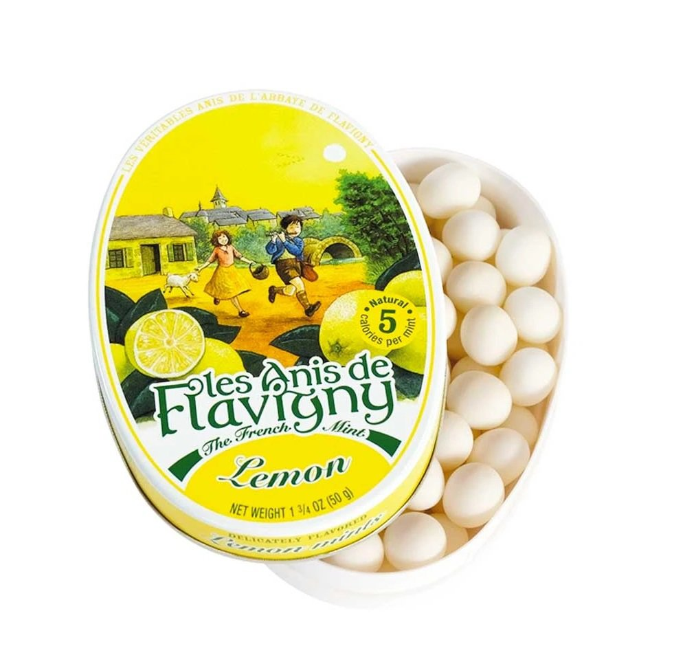 Anis De Flavigny 50g Citron Gift Tin Box Lemon