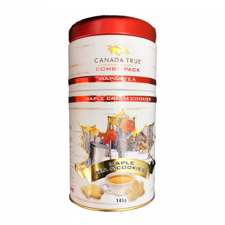 Maple Tea Tin 25 tea bags and Maple Cream cookies 145 g New Gift Idea