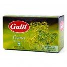 Galil Tea, Fennel, 20 tea bags, 1.41 Oz Herbal Tea Kosher Caffeine Free
