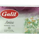 Galil Tea, Anise, 20 tea bags, 1.41 Oz Herbal Tea Kosher Caffeine Free