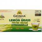 Geisha Pure Lemongrass Fever Grass Citronnelle Herbal Tea, 25 tea bags