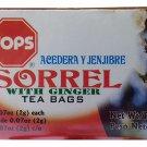 TOPS Sorrel with Ginger Jamaican  Herbal Tea