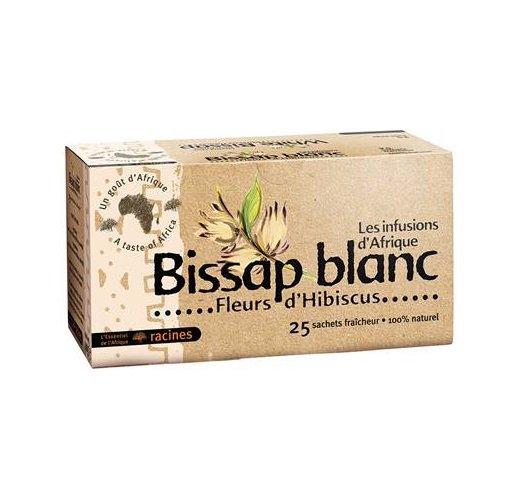 Les Infusions d'Afrique White Bissap 25 tea bags African Bissap Blanc Herbal Tea