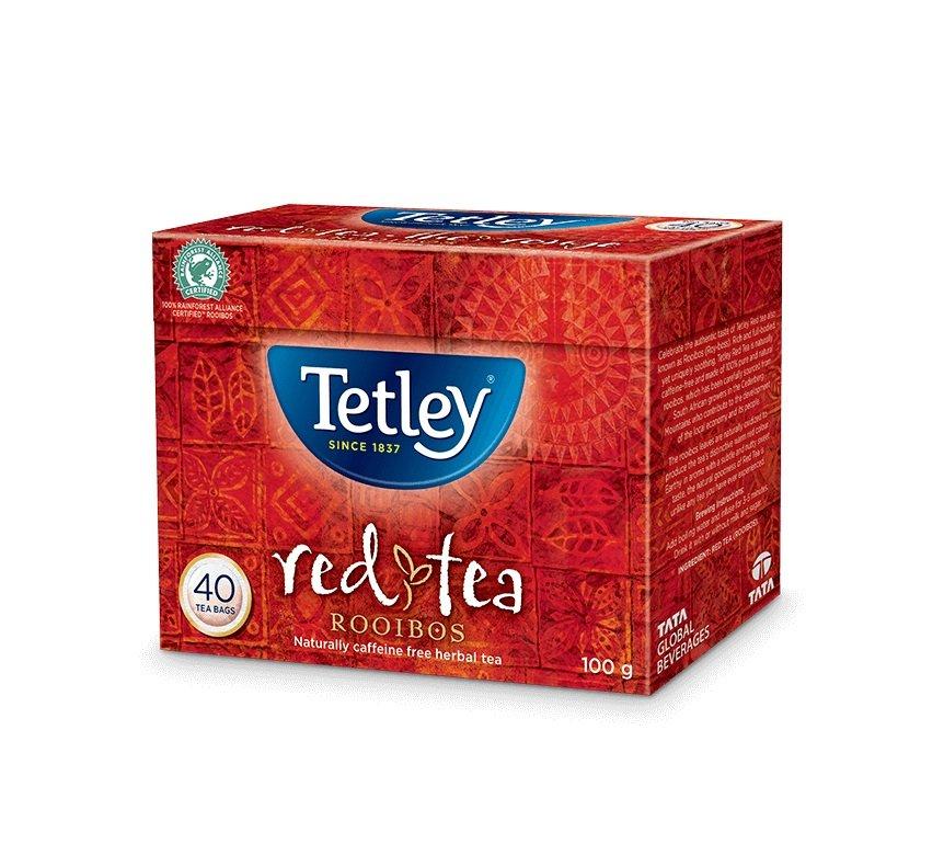 Tetley Rooibos Red Tea Pack of 40 tea bags ON SALE