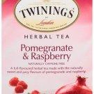 Twinings Pomegranate Raspberry Herbal Tea 20 tea bags