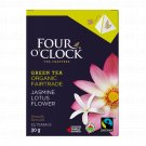FOUR O'CLOCK  Jasmine and Lotus Flower Green Tea Organic Tea 15 UN
