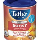Tetley Boost Super Herbal Tea Peach Ginger Dandelion 20 tea bags