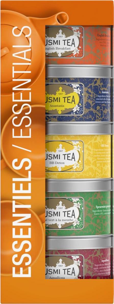 Kusmi Tea Paris - Essentials Teas Assortment 5x25g
