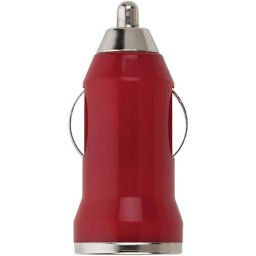 USB Car Charger Android, Cell phone, iPhone, MP3 - Red