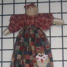 Gingerbread Angel Plastic or Grocery Bag Holder