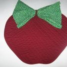"Apple Shaped Quilted Placemat and ""leaf"" Napkin"