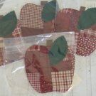 Paper Pieced Apple Coasters