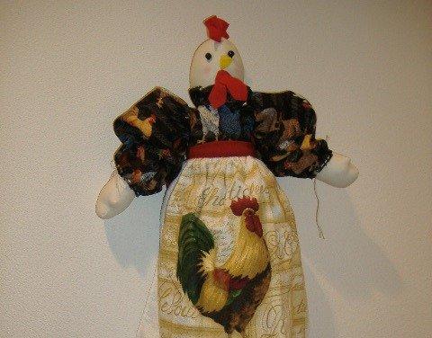 Rooster Plastic Bag or Grocery Bag Holder