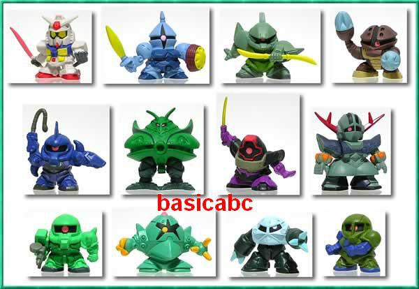 Gashapon SD Gundam Part 17 Zaku Big Zam Gouf Zook Dom