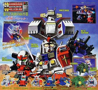 Gashapon SD Gundam Part 25 White Base G-Fighter RX-79G Guncannon Guntank