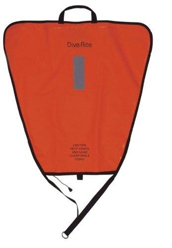 DIVE RITE LIFT BAG-100LBS ORANGE NIB WITH HOLDER
