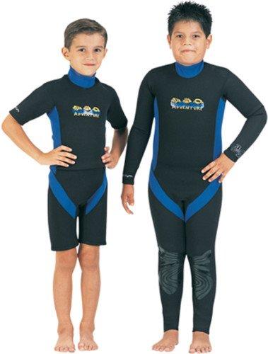 TILOS KIDS 3/2MM ADVENTURE FULLSUIT;SIZE 12 BLACK/BLUE
