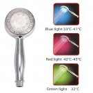 LED Shower Head with 3 Color Water Temperature Detection