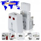 Universal Travel Adapter with USB Charging Slot and Surge Protection (3 Pack)