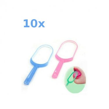 Tongue Scraper Cleaner Brush (10 Piece Package)