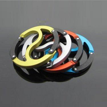 Sunroad Metal Carabiners / Keychain Hooks - Yin Yang Qi (12 Piece Bulk Pack)