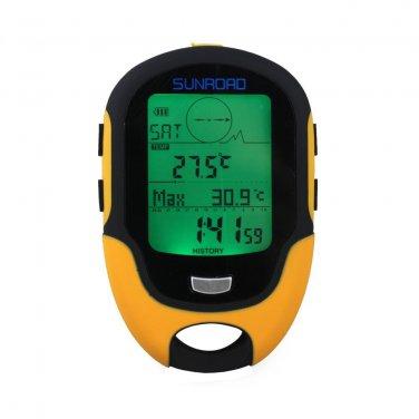 Multifunction Digital Altimeter Barometer Compass for Outdoor Sports (Sunroad Model FR-500)