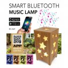 Bamboo Music Lamp - Smart Bluetooth Music Speaker with LED Light
