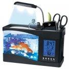 Global Care Market USB Desktop Aquarium - Complete Gift Set (Black)