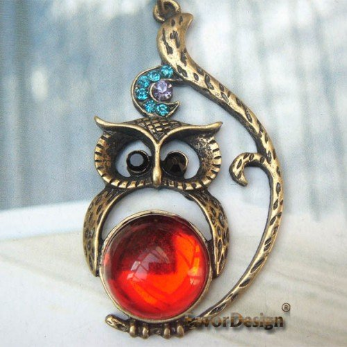 Swarovski Crystal Retro Copper Owl