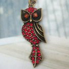 Elegant Brass Owl design Pendant Necklace
