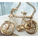 Elegant Retro Brass Bike art design Pendant Necklace