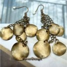 Elegant Retro Brass design Hook Earrings